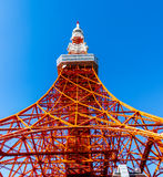 Tokyo tower in summer and a green tree on May 13,2016 in Tokyo,J Royalty Free Stock Images