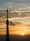 Tokyo Tower with Sunset Royalty Free Stock Photos