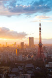 Tokyo Tower Sunset Royalty Free Stock Photography