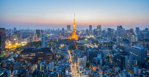 Tokyo Tower and Tokyo city Royalty Free Stock Image