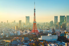 Tokyo Tower in Tokyo, Japan Stock Photo