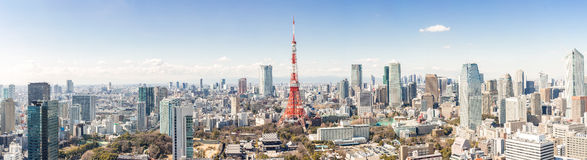 Tokyo Tower, Tokyo Japan. Tokyo Tower with skyline in Tokyo Japan Stock Photography