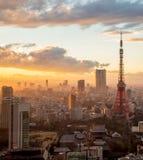Tokyo Tower in Tokyo, Japan. Sunset scene:Tokyo Tower in Tokyo, Japan Stock Photos