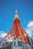 Tokyo Tower in Tokyo. Street eye view Royalty Free Stock Photo