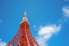 Tokyo Tower in Tokyo. Street eye view Stock Images