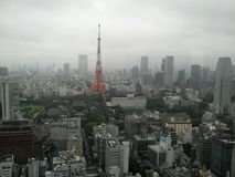 Tokyo Tower and Tokyo view Stock Photos