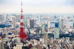Tokyo Tower. View of Tokyo tower from Roppongi hill Stock Photography