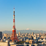 Tokyo Town and Mount Fuji Royalty Free Stock Photography
