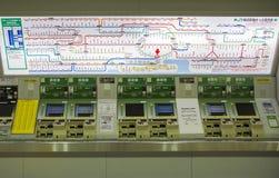 Tokyo train route Royalty Free Stock Photos