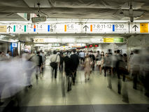 Tokyo Train Station Underpass Crowds Royalty Free Stock Photos
