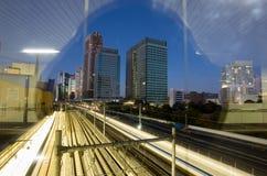 Tokyo trainyard and skyline Stock Image