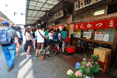 Tokyo: Tsukiji fish market Royalty Free Stock Image
