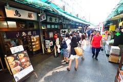Tokyo: Tsukiji fiskmarknad Arkivbilder