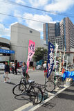 Tokyo, Tsukiji Japan - 18 Augustus, 2015 - Tsukiji-vissenmarkt is Th Royalty-vrije Stock Afbeelding