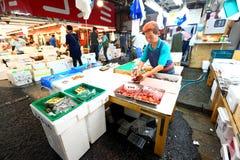 Tokyo: Tsukiji Seafood Fish Market Royalty Free Stock Photos