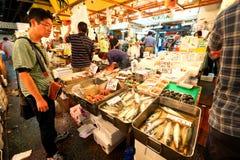 Tokyo: Tsukiji Seafood Fish Market Stock Photos