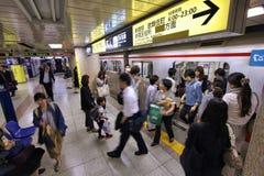Tokyo tunnelbana Arkivbild
