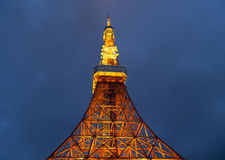 Tokyo-Turm nachts 31,2016 im Mai in Tokyo, Japan Lizenzfreies Stockbild