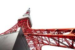 Tokyo-Turm von der Unterseite Lizenzfreie Stockfotos