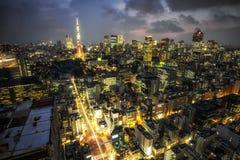 Tokyo-Turmstadtansicht Stockfoto