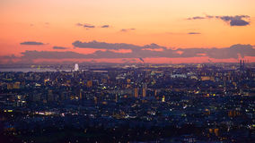 Tokyo in the twilight Royalty Free Stock Photography
