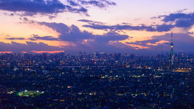 Tokyo in the twilight Royalty Free Stock Images
