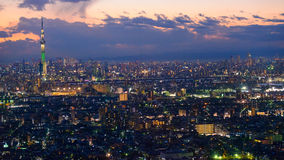 Tokyo in the twilight Stock Photography
