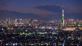 Tokyo in the twilight Stock Photos