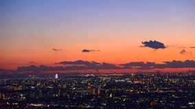Tokyo in the twilight Stock Photo