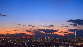Tokyo in the twilight Stock Image