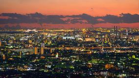 Tokyo in the twilight Royalty Free Stock Photos