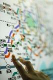 Tokyo-Untergrundbahnkarte stockfotos