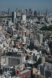 Tokyo - urban jungle. Tokyo cityscape with Shinjuku business district in the background stock image