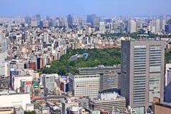 Tokyo utvidgning av en stad Arkivbilder