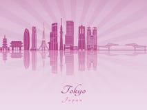 Tokyo V3 Skyline purple radiant orchid Royalty Free Stock Photo