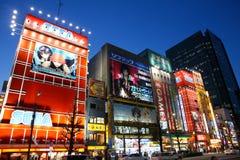 Tokyo vid natt Arkivfoton