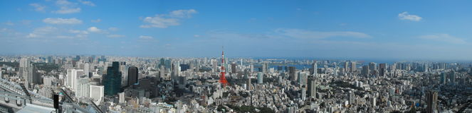 Tokyo From a View Royalty Free Stock Photo