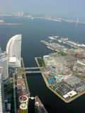 Tokyo view. Port Tokyo view in air royalty free stock photography
