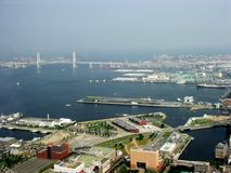 Tokyo View. Tokyo Port and bay view from air Stock Photo