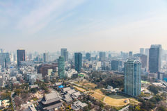 Tokyo view cityscape | Asian Japan travel metropolis landscape on March 30, 2017 Royalty Free Stock Photography