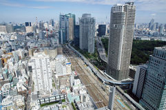 Tokyo view from World trade center Royalty Free Stock Photo