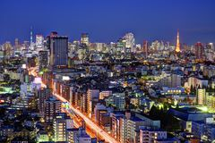 Tokyo Viewed from Ebisu Royalty Free Stock Images