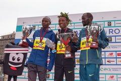 Tola, Ruto и Bitok, покрывают 3 в марафоне 2017 Рима Стоковое Изображение RF