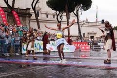 Tola Shura Kitata wygrywa 23rd maraton w Rzym Zdjęcia Stock