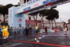 Tola Shura Kitata wygrywa 23rd maraton w Rzym Zdjęcie Royalty Free