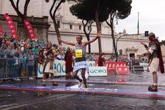 Tola Shura Kitata wygrywa 23rd maraton w Rzym Obrazy Royalty Free