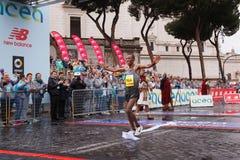 Tola Shura Kitata wygrywa 23rd maraton w Rzym Fotografia Stock