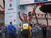 Tola Shura Kitata wygrywa 23rd maraton w Rzym Obraz Stock