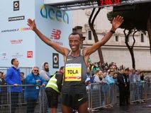 Tola Shura Kitata wygrywa 23rd maraton w Rzym Zdjęcia Royalty Free