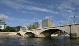 Tolbiac bridge in paris Stock Photography